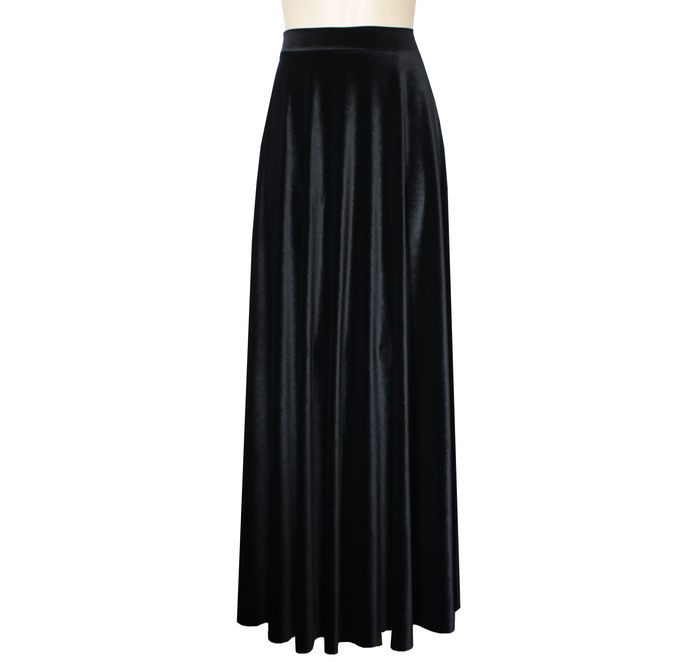 Black Velvet Skirt Long  Formal Skirt Plus Size Evening Skirt Maxi Bridesmaids