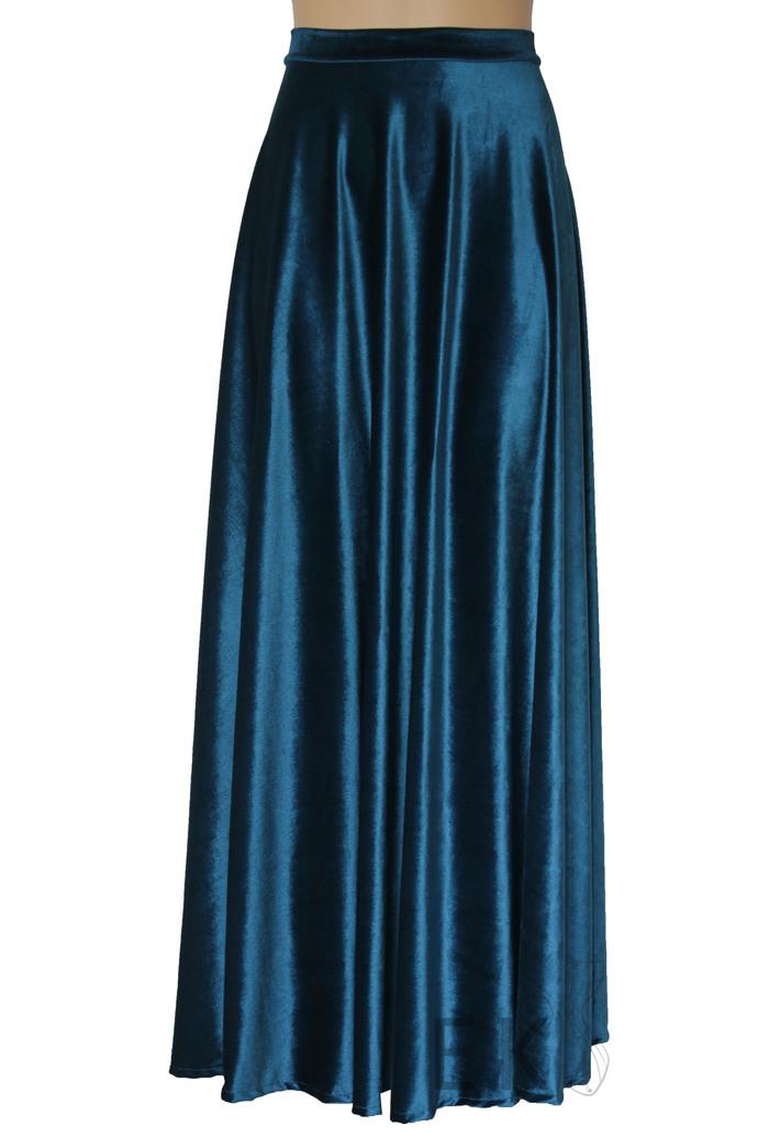 Red Velvet Skirt Long  Formal Skirt Plus Size Evening Skirt Maxi Bridesmaids