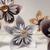 Origami Kusudama Paper Flowers with Button Centers, Handmade Kusudama Paper