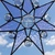 Moon face stained glass star Christmas ornament Suncatcher stained glass in