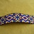 Native American Style Square Stitched Geometric Design Large Hair Barrette in