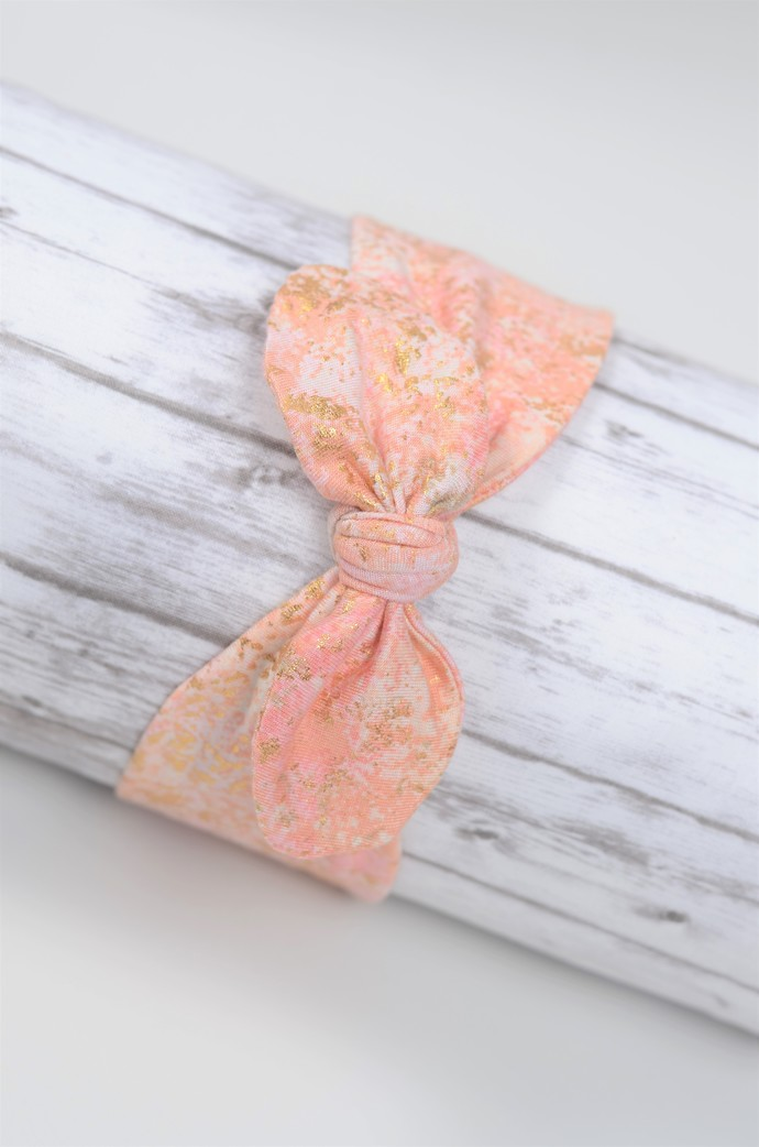 Adult Retro Bow Headband - Back to School - Coral Galaxy