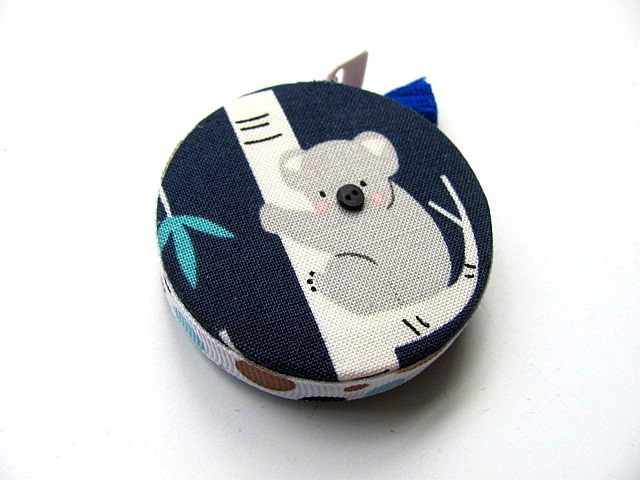 Measuring Tape Koalas on Blue Retractable Pocket Tape Measure