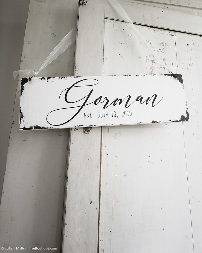 Wooden Name Sign | Established Sign | Family Name Sign | Last Name Sign | Custom
