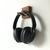 Wall Headphone Hook in Wood and Metal