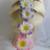 Plumeria Foam Flower on Elastic Hair Band. Beach Theme Wedding. Bridal Hair