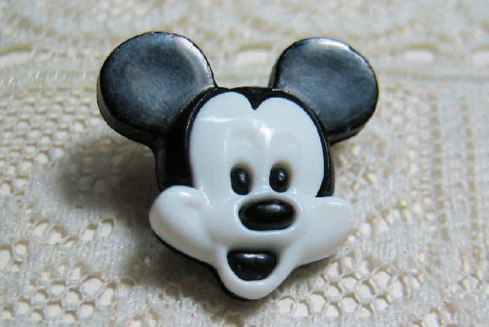 Mickey Mouse Snaptogether Button