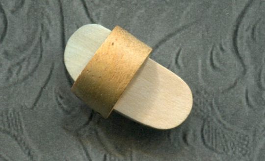 Wood Sandal Shoe Button drilled hole on back with metal shank