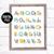 Sign Language Alphabet Art - ABC Boy Nursery Art - ASL Alphabet Printable Art