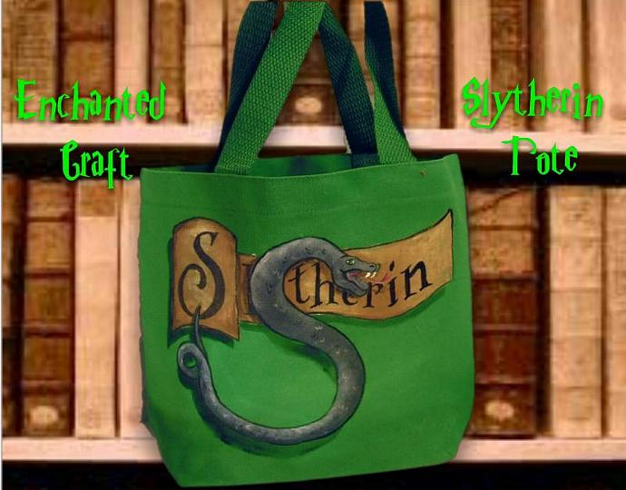 Slytherin House bag great for e-reader, nook, or kindle