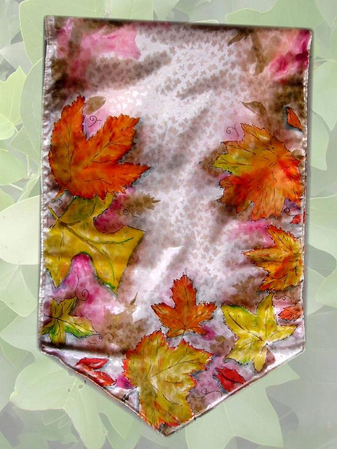 Autumn Leaves Banner get it personalized