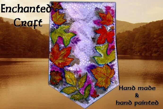 Autumn Leaves Banner with purple get it personalized
