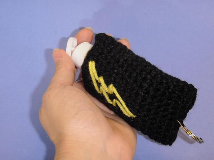 Harry Potter Black cozy with lighting bolt for sanitizer