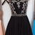 Elegant Black Short Homecoming Dress, A Line Beaded Party Dress