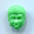Realistic Button African Head Green Plastic from the Good Neighbors Set late