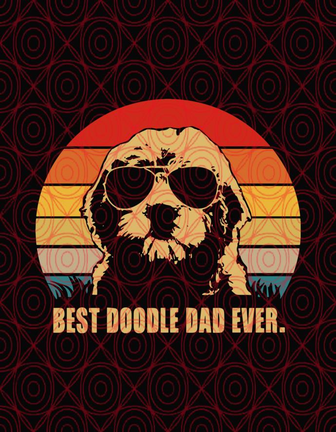 best doodle dad ever svg, dog svg, svg, quote svg, funny svg, png,dxf