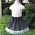 Black and White Polka Dots Skirt, Girl Skirt, Toddler Skirt, White Skirt, Black