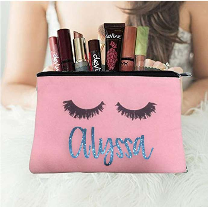 Makeup Cosmetic Bag personalized | Wedding Gift | Maid of Honor Gift |