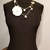 Chanel inspired necklace, camellia flower, white pearls necklace, fashion