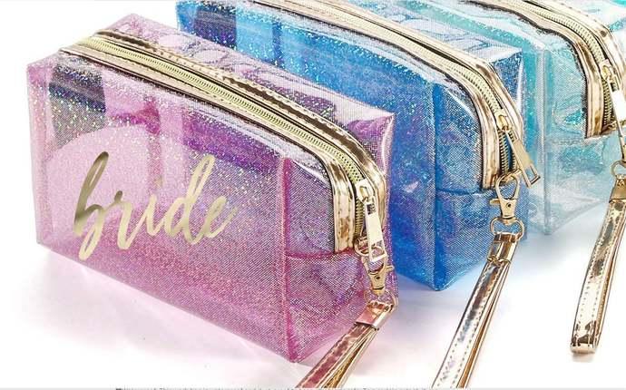 Bridesmaid Make Up Bag | Make Up Bag Personalized | Bridesmaid Gift | Cosmetic