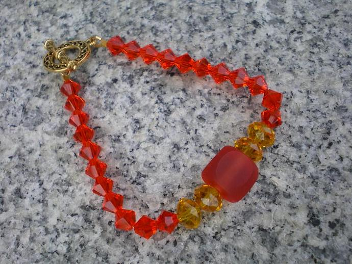 Resin and Crystal bracelet