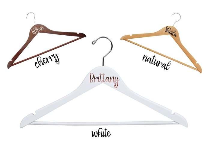 Bridesmaid Hangers | Bridal Party | Bridal Hangers | Wedding Dress Hanger |