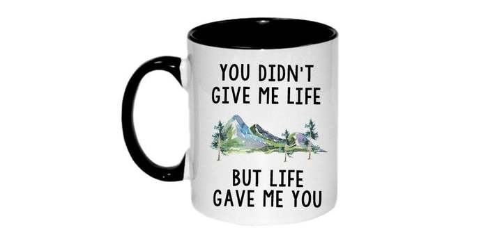 Stepdad gift Adopted Dad Stepfather gift  you didn't give me life, but life gave