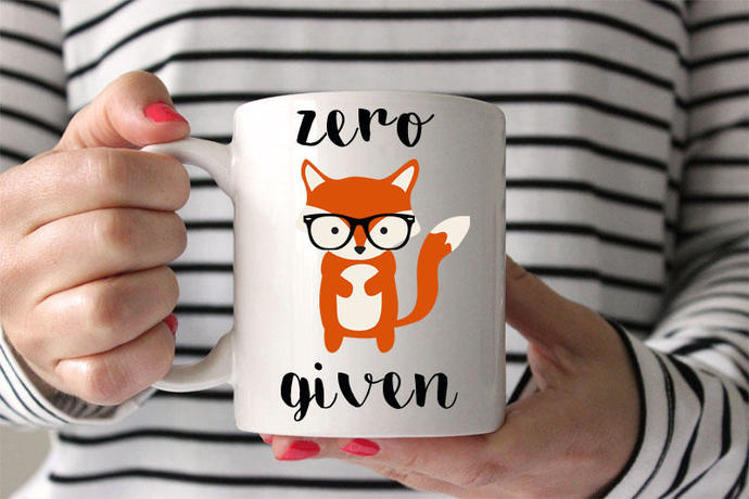 Zero fox given funny coffee mug adult coffee mug funny coffee mug lipstick