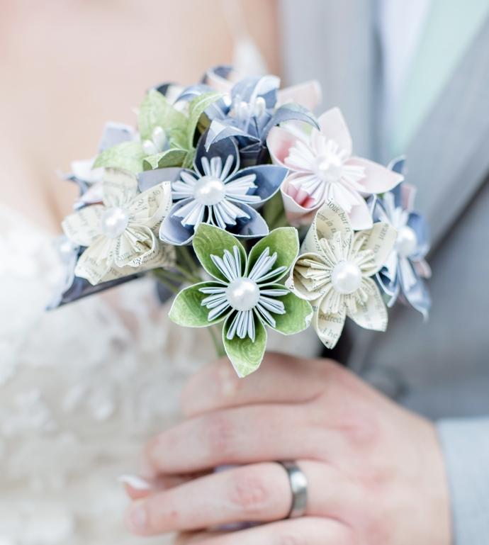 Wedding bouquet, Paper flower, bridal, origami, kusudama, bridal flowers,