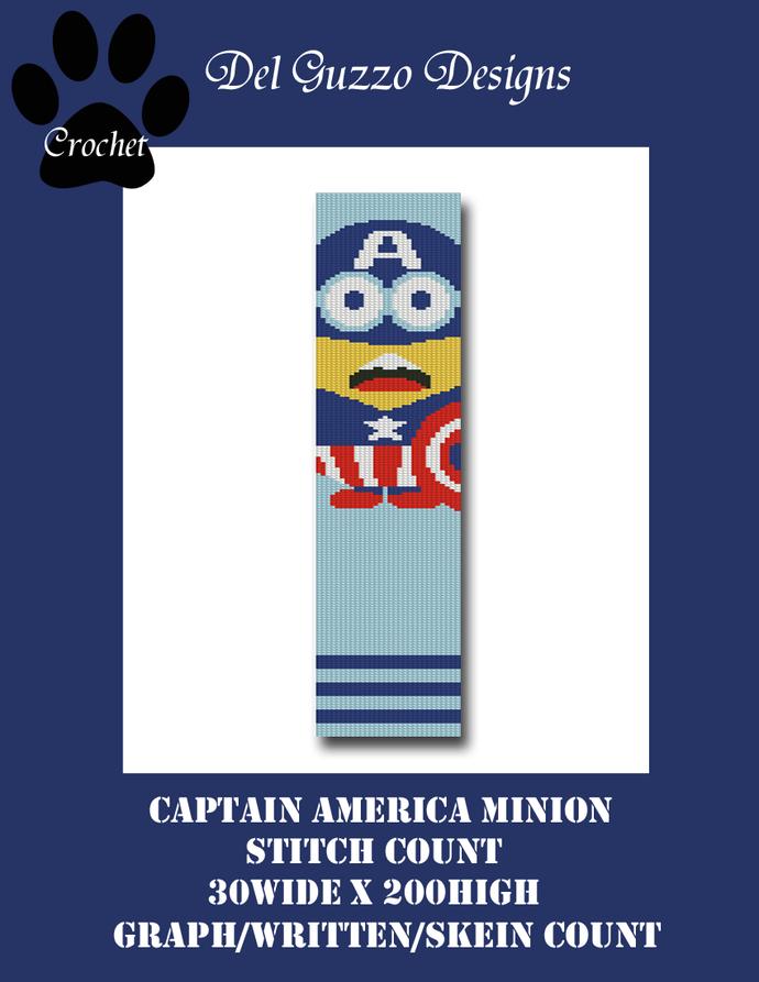 Minion Captain America 30x200 Scarf