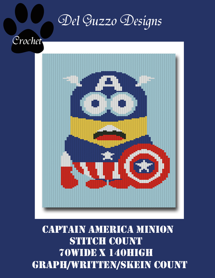 Minion Captain America 70x140