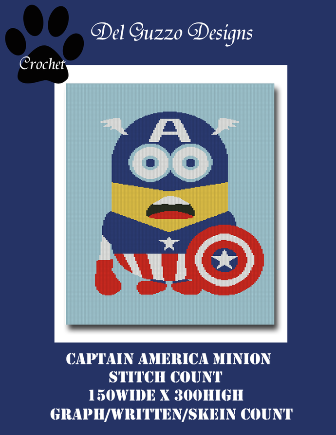 Minion Captain America 150x300 Twin Size
