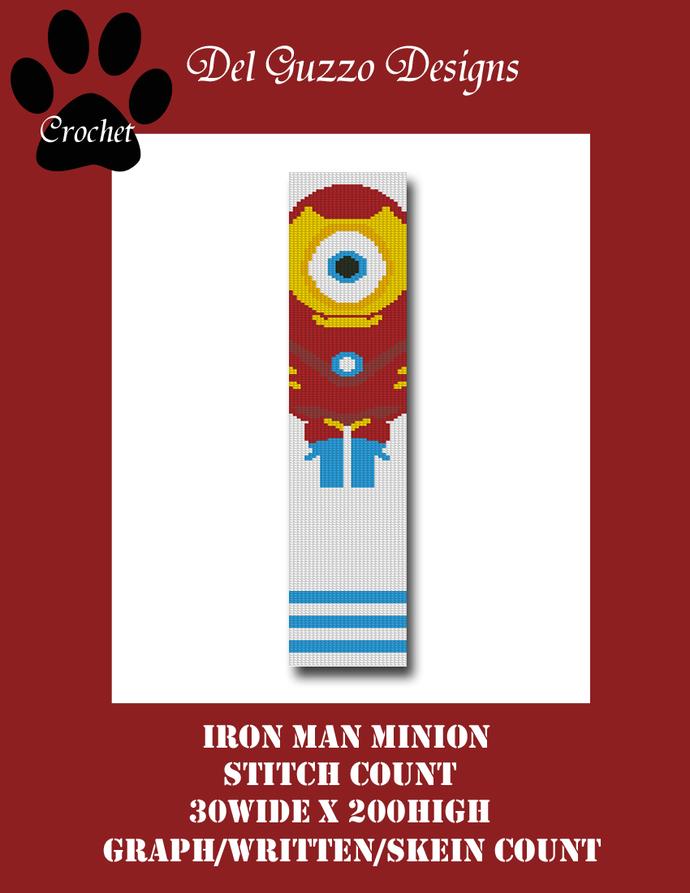 Minion Iron Man 30x200 Scarf