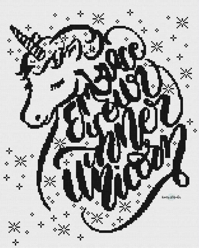Embrace Your Inner Unicorn Crochet Blanket Pattern