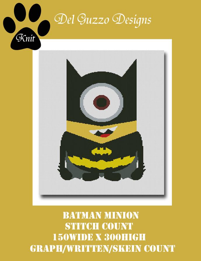 Minion Batman 150x300 Twin Size KNIT