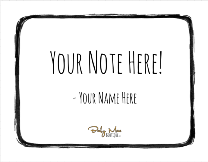 Personalized Gift Note