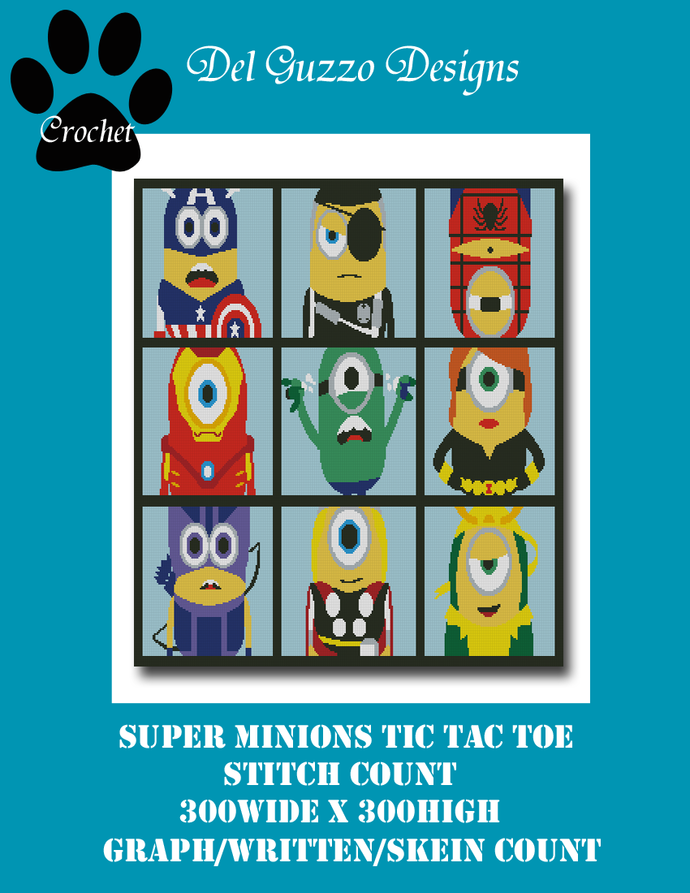 Minion SuperMinionsTicTacToe  300x300 King Size