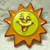 Kelloggs Cereal Metal and Painted Sunny The Sun Button
