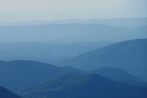 The Blue Ridge Mountains in Virginia