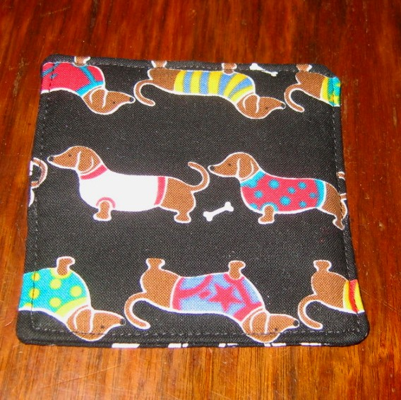 4 Dachshund Doxie Dog Coasters