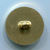 Vintage Plastic Gold Colored Golfer Button