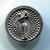 Vintage Plastic Silver Colored Golfer Button