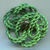 Large Extruded Green Celluloid Button