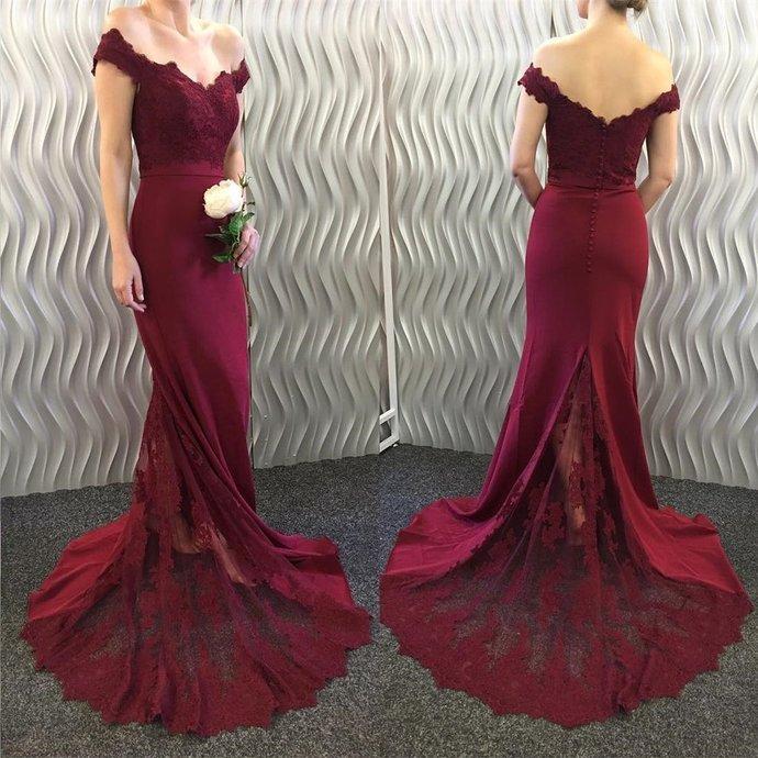 Charming Bridesmaid Dress Mermaid Long,Beautiful Wedding Party Dresses