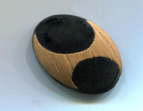 Oval Celluloid with Wood Overlay NBS Medium