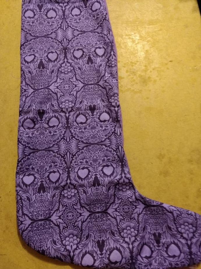 Purple skull stocking
