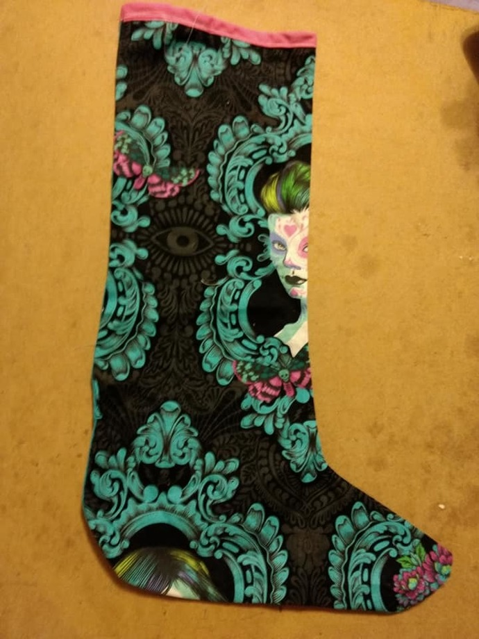 Sugar skull lady stocking