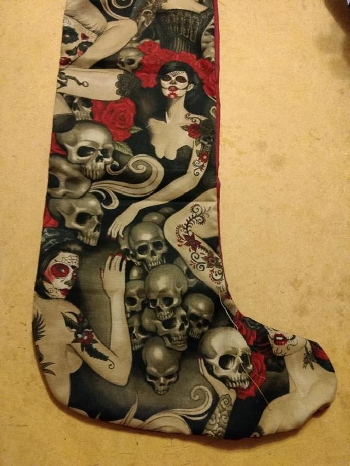 Lady skull stocking