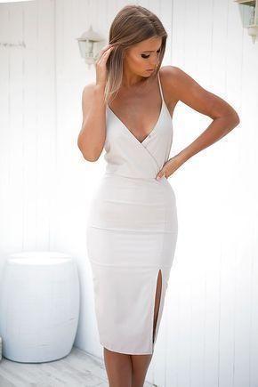 V Neck Pencil Homecoming Dress, Spaghetti Straps Fashion Mermaid Homecoming