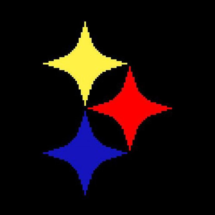 Pittsburgh Steelers Crochet Pattern Afghan Throw Graphghan Mini C2C Corner 2